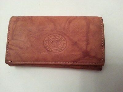 London Leather Goods Tan Key Holder Wallet (New Condition)