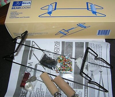 Bead Loom Kit 3 Packets Beads Loom Weaving Instructions Needles Craft Jewellery