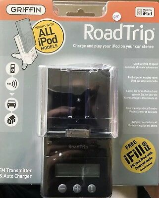 Griffin RoadTrip - FM transmitter & Auto Charger for iPods - Black