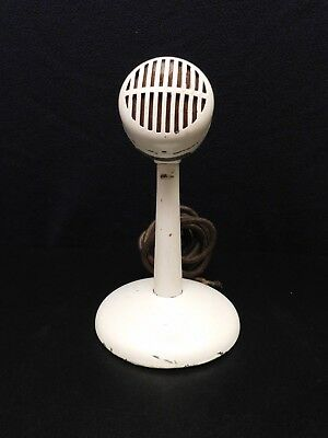 VINTAGE 1940s SHURE OLD ANTIQUE BULLET MICROPHONE WITH ORIGINAL OLD TABLE STAND
