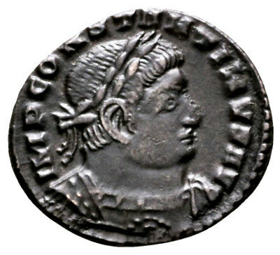CONSTANTINE THE GREAT (316 AD) AE Follis, Sol Lyons #MA 632