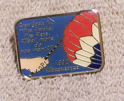1992 Crew Quote #1 Albuquerque Balloon Pin
