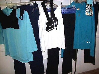 12 Pcs LOT Women's Size M/L SWEATS Tanks/Tops JACKET Sports Bra HEADBANDS