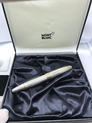 Montblanc Meisterstuck Solitaire Pinstripe Sterling Silver Fountain Pen - 146