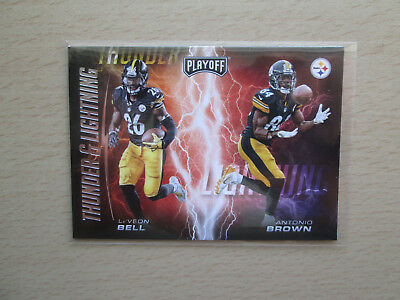 Panini Playoff NFL 2017 - Thunder & Lightning - # 4 Bell / Brown