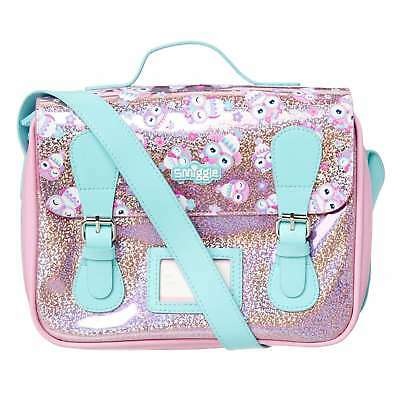 Smiggle Sparkle Girl Satchel Lunch Box Lunch bag insulated owl pink strap handle