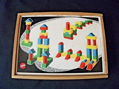 "VINTAGE 1960's ""HEROS""  WEST GERMAN CHILDREN'S WOODEN BUILDING BLOCKS - COMPLETE"