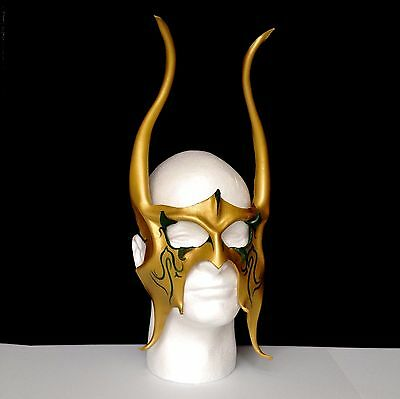 Viking Horns - Leather - Loki Cosplay Viking CosPlay mask Halloween Greendetail