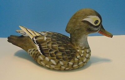 Exceptionally hand painted wood duck decoy by Gusti Widana