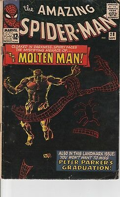 SPIDER-MAN #28 1965 SILVER AGE MARVEL COMIC BOOK 1st MOLTEN MAN