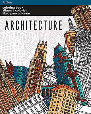 Adult Coloring Book for Stress Relief Architecture Themes