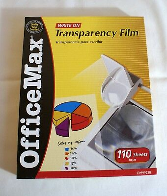 Write On Transparency Film Box of 110 +/- OM99228 OfficeMax