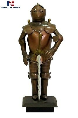 15'' Miniature Medieval Authentic Suit of Armor W/Stand Larp Armory