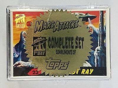 1994 Topps Mars Attacks Archives First 1st Day Complete Set 55 Cards Compliments