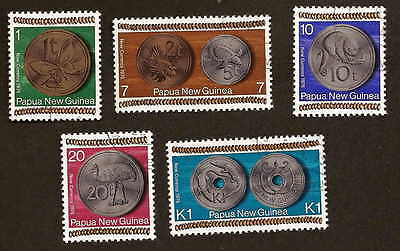 Papua New Guinea Scott # 410-414 complete used set - new coinage
