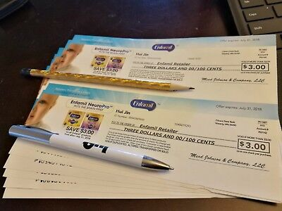 $56 worth of Enfamil baby infant formula check coupons