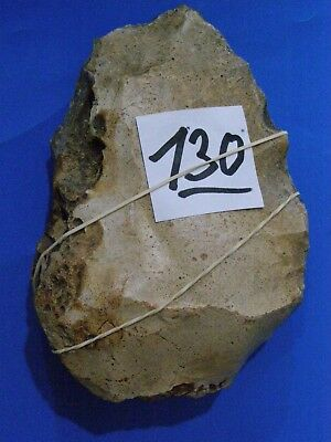 paleolithic large hand axe flint stone from israel size13x8.5