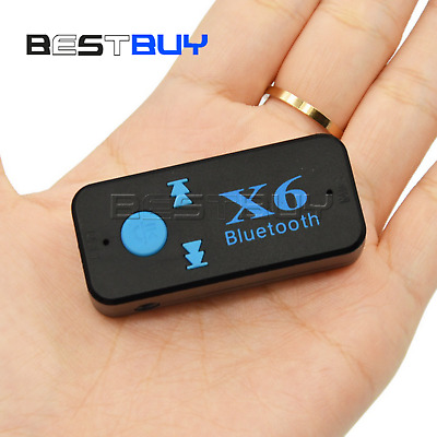 Wireless Bluetooth Audio Music Receiver Stereo Car Adapter Mic 3.5mm AUX BBC