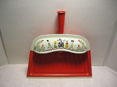 Vintage JV Reed Dustpan  Orange  USA