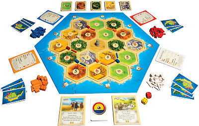 NEW 10+Years Catan Party Family Board Dice Game: 5th Edition for 3-4 Players