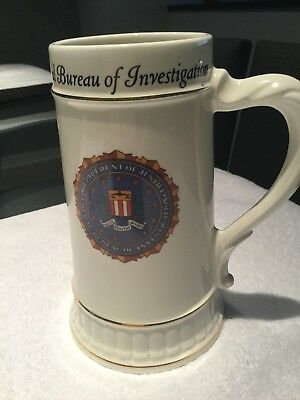 Department of Justice and Federal Bureau of Investigation Tankard Stein Beer Mug