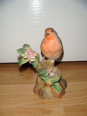 Crown Staffordshire Bone China J.T.Jones Robin Bird Figurine ~ Excellent