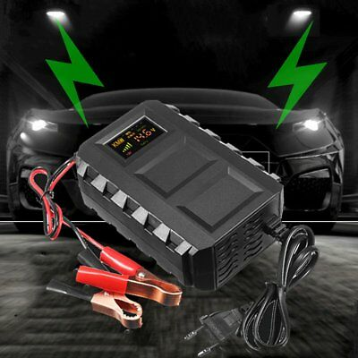 LCD Intelligent 12V 20A Automobile Lead Acid Battery Charger Car Van Motorcycle&