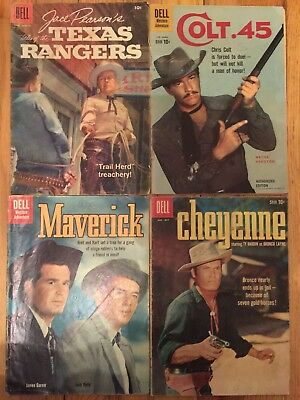 Vintage Dell Tv Western Comic Books Lot Of 4