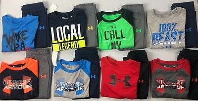 Baby Boy's Infant Under Armour Long Sleeve Shirt and Athletic Pants Outfit Set