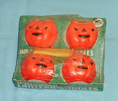 vintage Halloween GURLEY CANDLES IN PACKAGE jack-o-lanterns