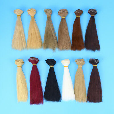 12pcs Handcraft Hair Heat Resistant Fashion Hair Wefts Doll Wigs for Doll Making