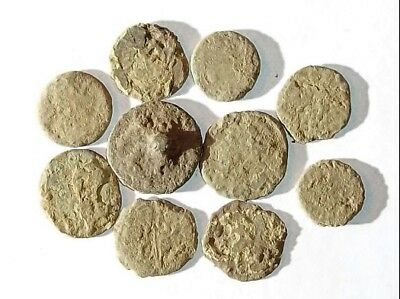 10 ANCIENT ROMAN COINS AE3 - Uncleaned and As Found! - Unique Lot X25928