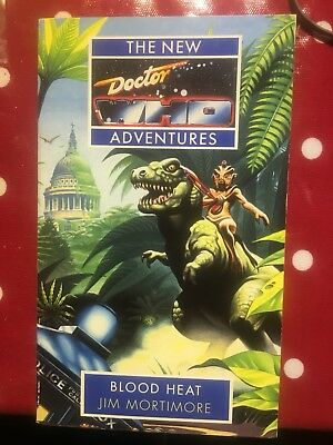 Book - The New Doctor Dr Who Adventures Blood Heat Jim Mortimore Virgin 1993