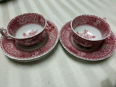 Spode Camilla 2 Coffee / Tea Cups And 3 Saucers