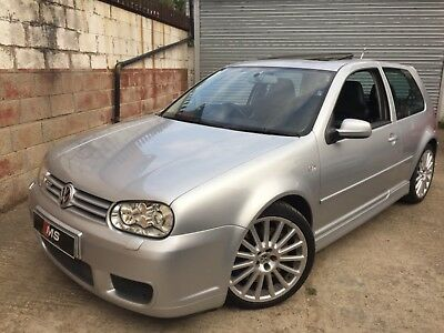 2003 VW Golf MK4 R32 3.2 Silver 3 Dr Sunroof Cruise Stage 2 Tuned Milltek Eibach