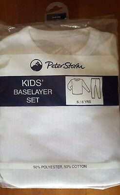 PETER STORM  Kids Baselayer Set Thermals Snow Winter Sz 5/6 yrs  *BNWT*