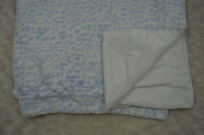 Kyle & Deena Baby Blanket Leopard Animal Print Blue White Security Lovey
