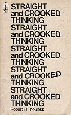 Straight and Crooked Thinking by Robert Henry Thouless Paperback Book The Cheap
