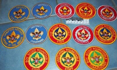 13 Scout Commissioner - Senior Executive Badges / Patches - from BSA