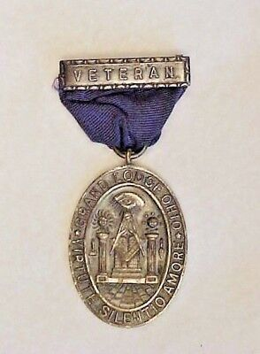 Vintage Ohio Masonic 50 Year Veteran Service Medal Badge Named
