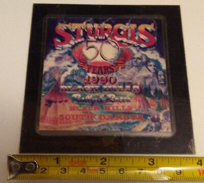 "Sturgis 50th Anniversary Motorcycle Classic 4""x 4"" Thin Frig Magnet"