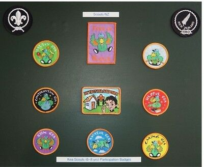 Scouts NZ - complete Kea badge - insignia display set - Very Colourful