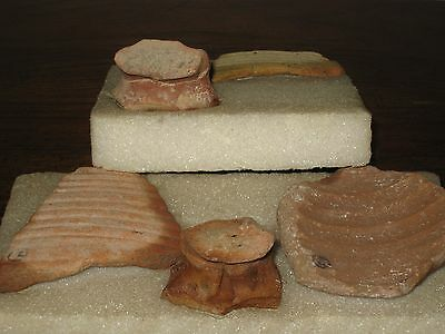 Holy Land Archaeology 5 Piece Antiquity Lot Caesarea, Baram & Jaffa Israel 67 AD