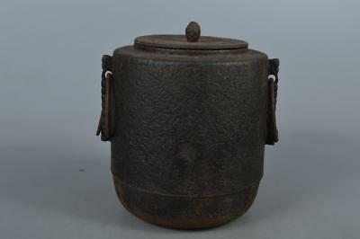 M8551: Japanese Old Iron TEAKETTLE Teapot Chagama Tea Ceremony