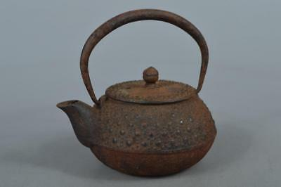 M8576: Japanese Iron Arare pattern SMALL TEA KETTLE Teapot Tetsubin