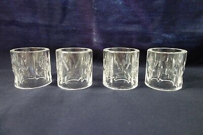 Set Of 4 Crystal Napkin Rings