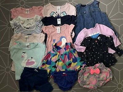 Baby girl Clothes 0-3M Bundle Tops, Denim Dress, Bloomers