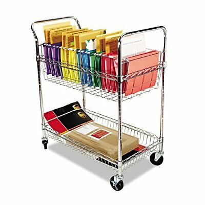Alera ALEMC3518SR Carry-all Cart/Mail Cart, Two-Shelf, 34-7/8w x 18d x 39-1/2h,