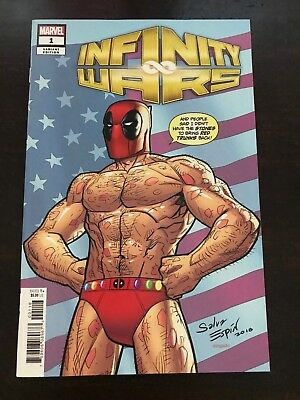 Infinity Wars #1 Marvel 2018 NM 9.4 Espin Party Variant Cover Unread Deadpool