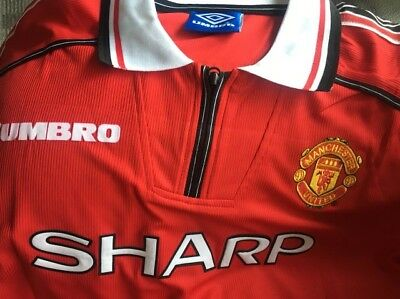 Classic Manchester United Shirt 1998 1999 Beckham Giggs Scholes All Sizes